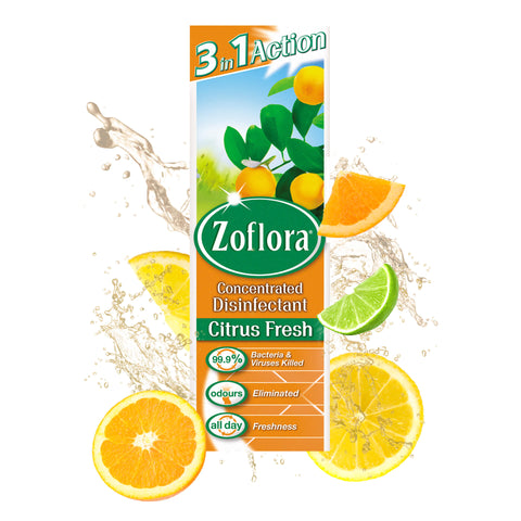 Zoflora Concentrated Disinfectant Fresh Citrus Fragrance 250ml