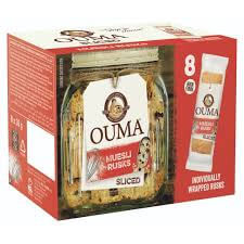 Nola Ouma Rusks - Muesli Singles Pack (Pack of 8 Individually Wrapped Rusks) 240g