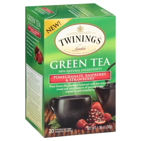 Twinings of London Tea - Pomegranate Raspberry and Strawberry (Pack of 20 Tea Bags) 40g