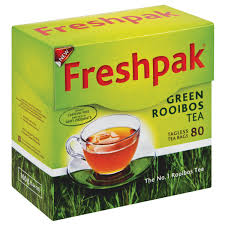 Freshpak Rooibos Tea - Green Tea Teabags (Pack of 80 Bags) 120g