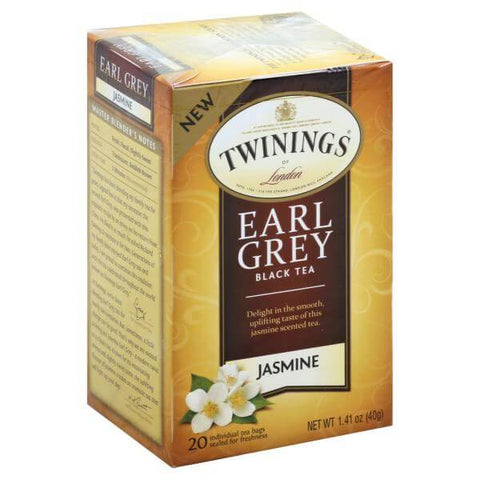 Twinings of London Tea - Earl Grey Jasmine (Pack of 20 Tea Bags) 40g