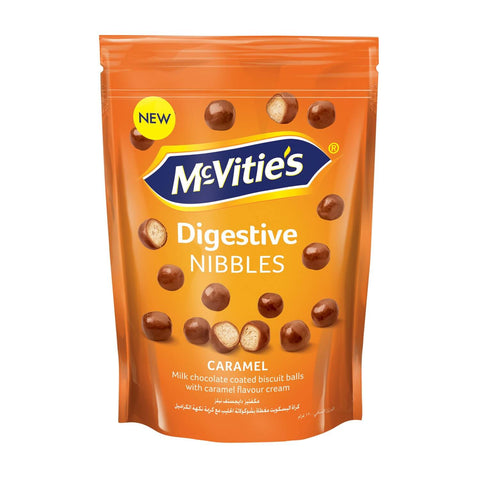 McVities Milk Chocolate Caramel Digestive Nibbles Pouch 120g