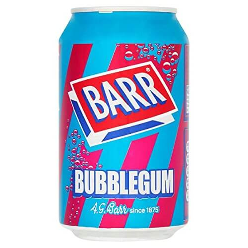 Barrs Bubblegum Soda Sugar Free 330ml