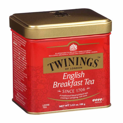 Twinings of London Tea - English Breakfast Loose Leaf Tin 100g