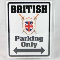 British Brands Parking Sign British 54g
