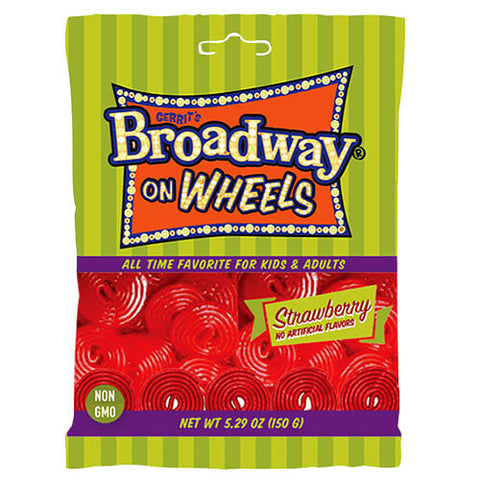 Gerrits Broadway on Wheels Strawberry Flavour 150g
