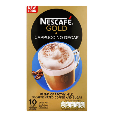 Nestle Nescafe Decaf Cappuccino Mix SA (Pack of 10) 150g