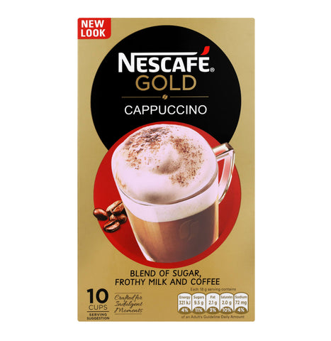 Nestle Nescafe Coffee - Cappuccino Mix SA (Pack of 10) 180g