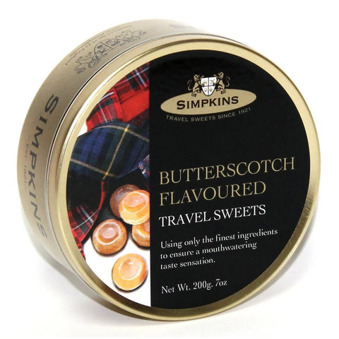 Simpkins Butterscotch Travel Sweets 200g