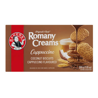 Bakers Romany Creams - Cappuccino Flavored Biscuits (Kosher) 200g