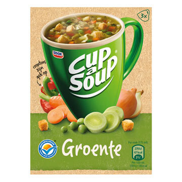 Unox Cup a Soup Vegetable with Croutons (Pack of 3) 48g