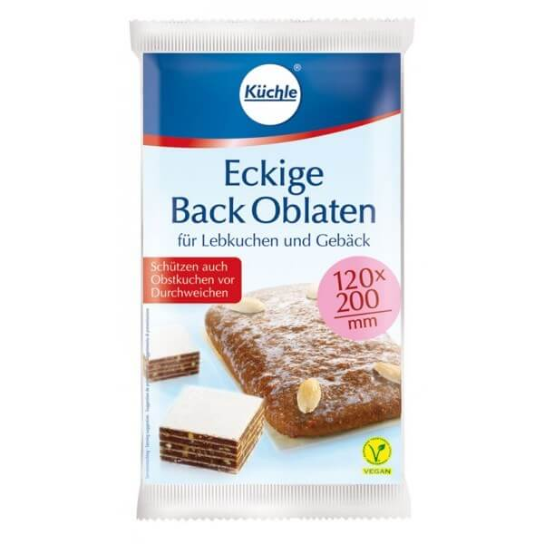 Kuechle Back Oblaten, Rectangle Baking Wafers (200mm) 53g