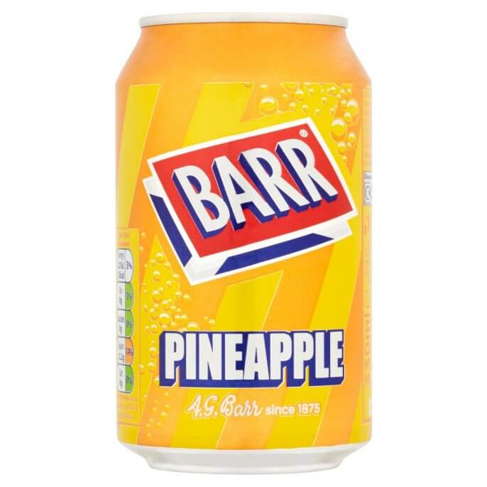 Barrs Pineapple 330ml