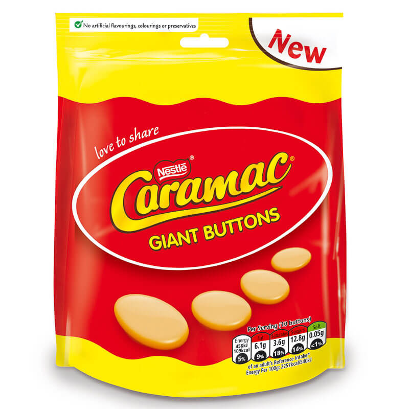 Nestle Caramac - Giant Buttons 102g
