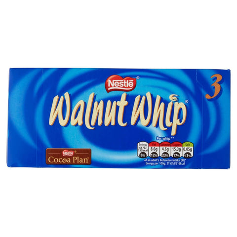 Nestle Walnut Whip - Vanilla (Pack of 3 Whips) 83.4g