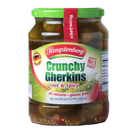 Hengstenberg Crunchy Gherkins Hot and Spicy 720ml