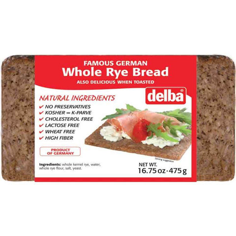 Delba Whole Rye Bread 475g