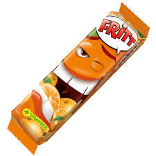 Fritt Chewy Candy Strips Orange Flavor (Pack of 6) 70g