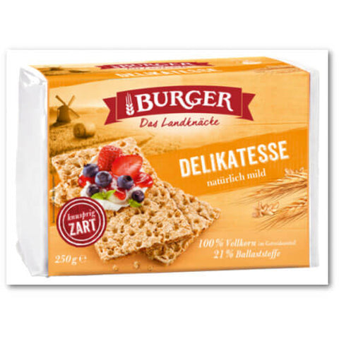 Burger Wholemeal Light Rye Crispbread 250g