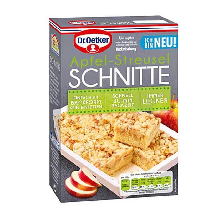 Dr Oetker Apple Streusel Squares Cake Mix 355g