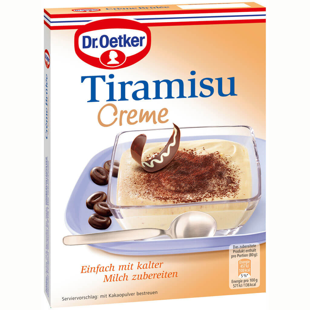 Dr Oetker Tiramisu Cream Dessert Simply Prepare with Cold Milk 70g