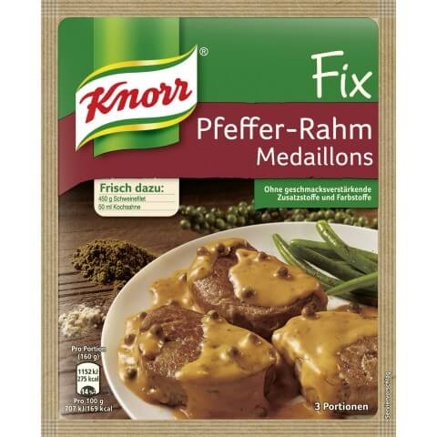 Knorr Fix Pepper Cream Sauce for Pork or Turkey 35g