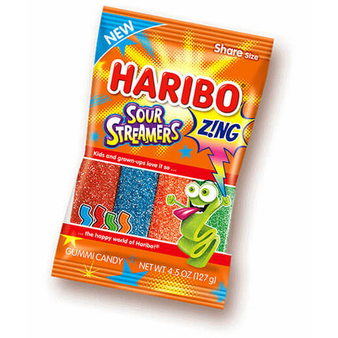 Haribo Sour Streamers 127g