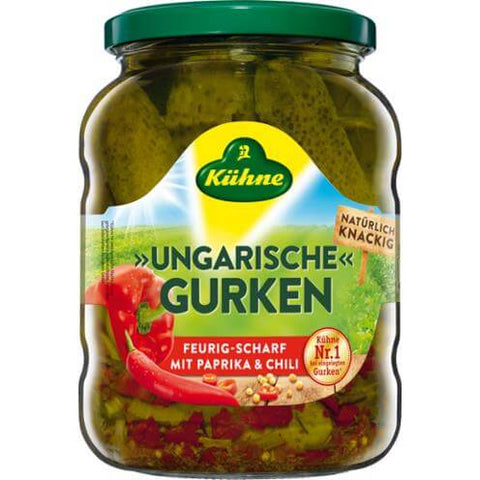 Kuehne Spicy Hungarian Pickles 670g