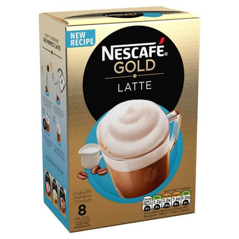 Nestle Nescafe Gold Latte Mix (Pack of 8) 156g