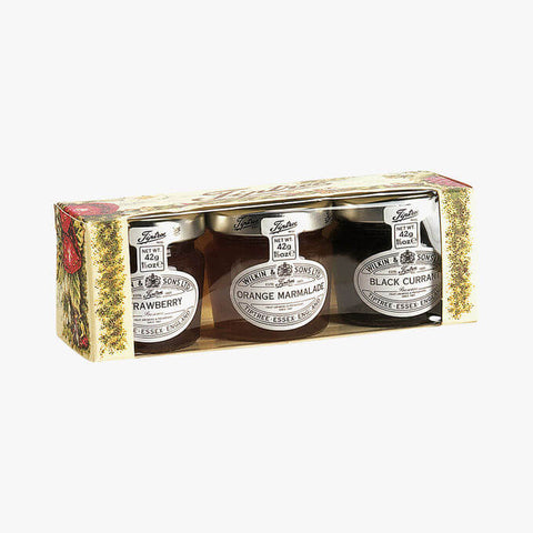 Wilkin and Sons Tiptree Assorted Trio Gift Box (Item Contains 3 Mini Jars) 126g