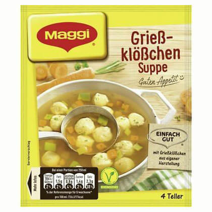 Maggi Dumpling and Vegetable Soup Makes 1Ltr