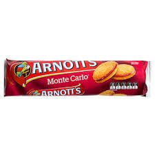 Arnotts Monte Carlo Biscuits 250g