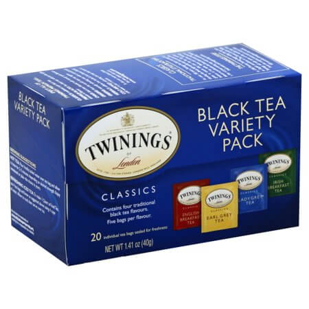 Twinings Of London Black Tea Variety Pack (Item Contains 20 Tea Bags) 40g