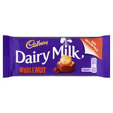Cadbury Dairy Milk Wholenut  Bar 55g