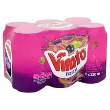 Vimto Fizzy - Cans (Pack of 6 Cans) 1980ml
