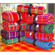 African Hut Masai Shuka African Blanket (Colours Vary. Please Specify a Colour in the Comments Section) 3000g