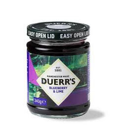 Duerrs Jam - Blueberry and Lime Conserve 340g