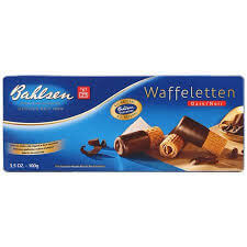 Bahlsen Waffeletten - Dark Chocolate Wafer Roll Biscuits 100g