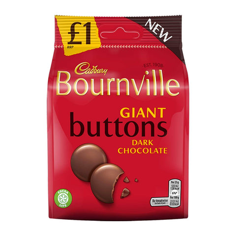 Cadbury Bournville - Giant Buttons Bag 95g