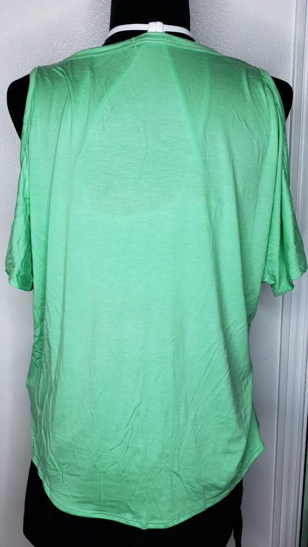 Mint to Be Cold Shoulder Tee