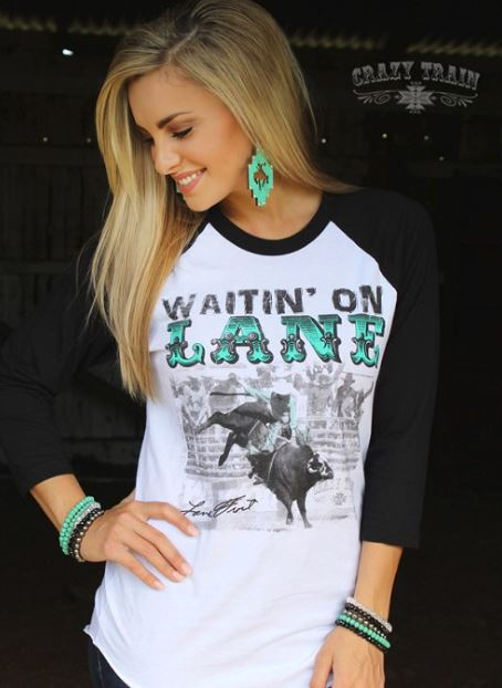 Waitin' On Lane Baseball Tee
