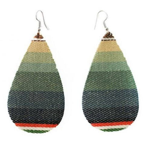 CHARCOAL SERAPE TEARDROP EARRING