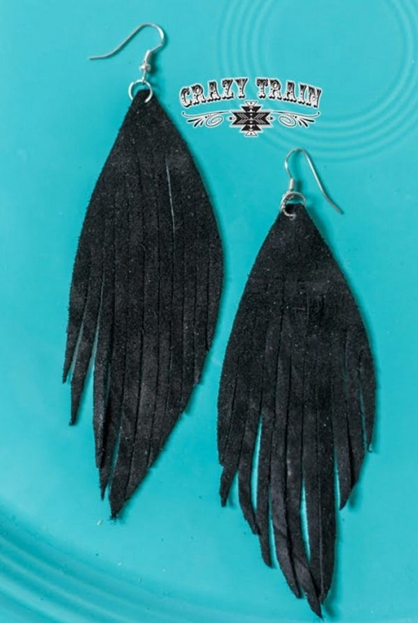 BLACK FRENZY EARRINGS