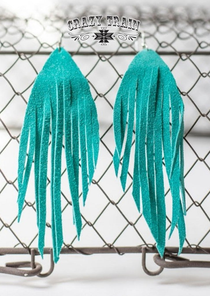 TURQUOISE FRENZY EARRINGS