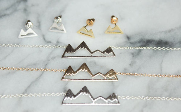 Handmade Mountain Range Necklace