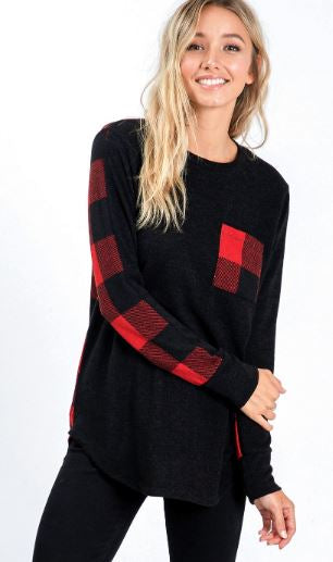Plaid Pocket Top