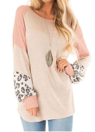 Tan Leopard Oversized Shirt