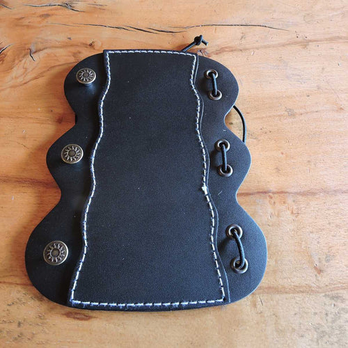 Leather Bracer Quality Buffalo In Black(53G914)