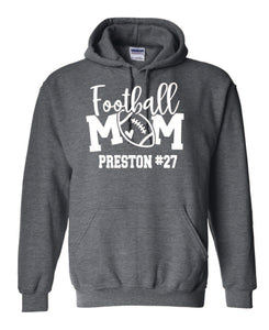 """Customization Included "" Football Mom Hoodie"