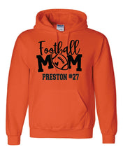 "Load image into Gallery viewer, ""Customization Included "" Football Mom Hoodie"